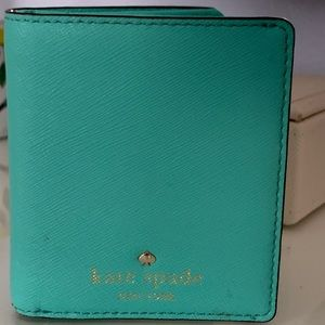 Kate Spade NY small turquoise wallet